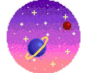 colorful, pixel, and planets image