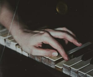 piano, hand, and music image