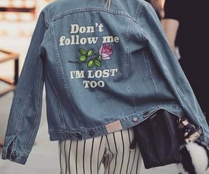 fashion, denim, and jacket image