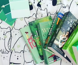 books, colors, and green image