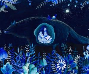 book, sad, and wolf image