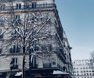 city, winter, and paris image