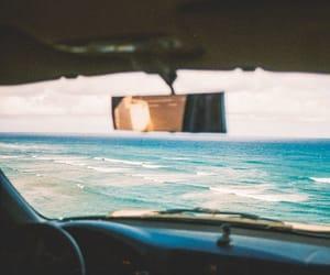 ocean, sea, and car image