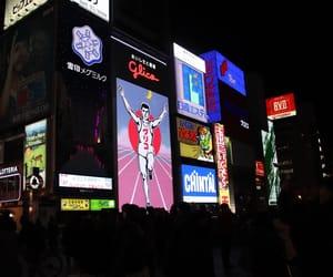 japan, night, and osaka image