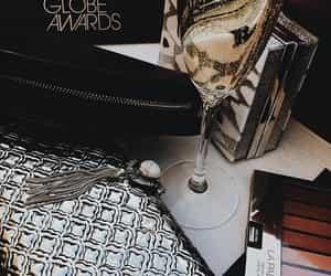 champagne, lavish, and golden globe awards image