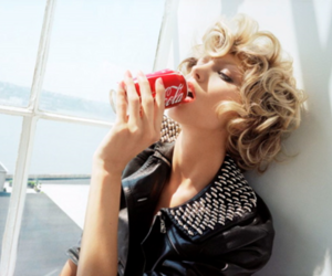 coke, blonde, and model image