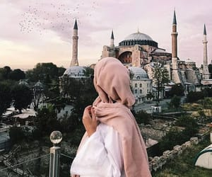 hijab, mosque, and muslim image