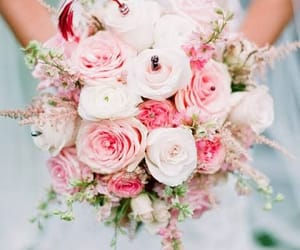 bride, flowers, and roses image