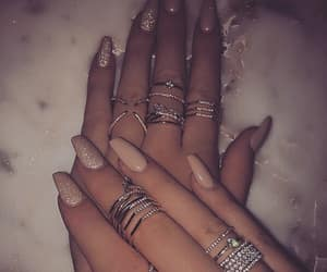 fashion style, nails goals, and jewels rings image