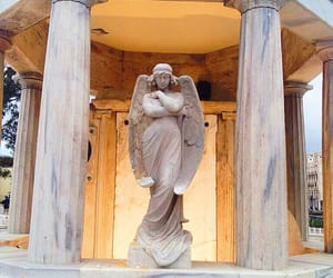 architecture, angel, and sculpture image