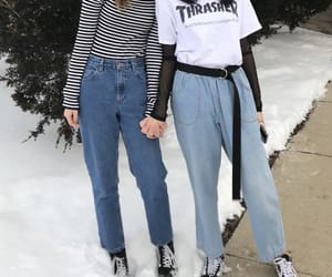 aesthetic, clothes, and friend image