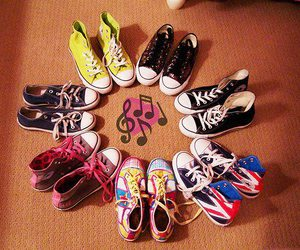 converse, music, and shoes image