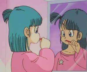 anime, pink, and bulma image