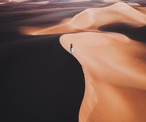 abu dhabi, desert, and freedom image