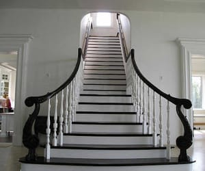 staircase, modern stairs, and modern staircase image