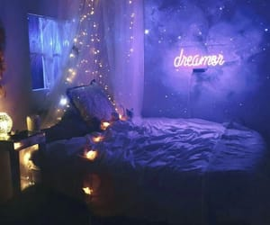 purple, bedroom, and dreamer image
