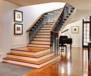 stairs, interior stairs, and modern stairs image