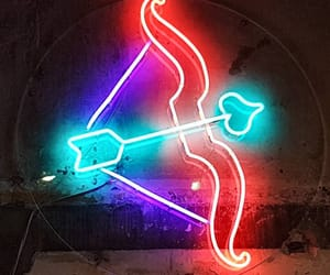 arrow, cupid, and neon image