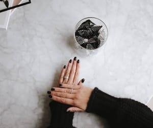 black, details, and manicure image