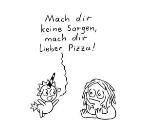 leben, spruch, and pizza image