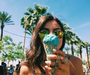 girl, summer, and ice cream image