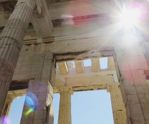 Athens, monument, and light image