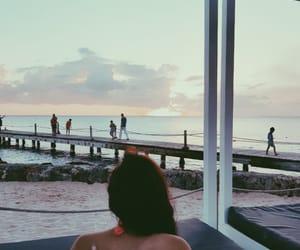 back, happy, and sunrise image
