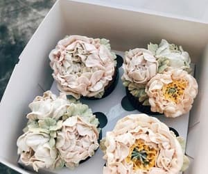 cake, flowers, and cute image