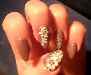 brown, nail art, and gel nails image