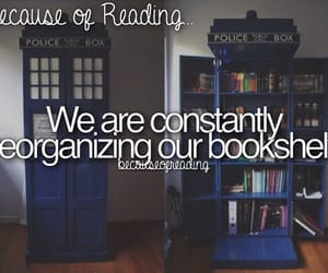 bookshelf and because of reading... image