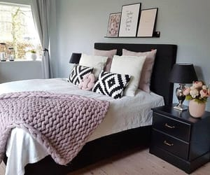 bed room, interior design, and cute image