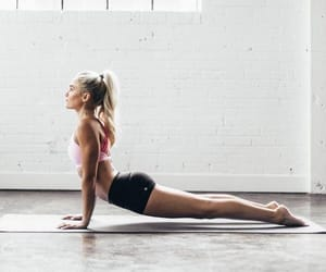 fitness, girl, and yoga image