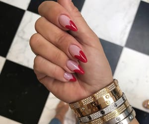 nails, outfit, and fashion image