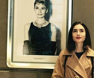 lily collins, audrey hepburn, and actress image
