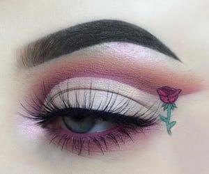 rose, eyes, and makeup image