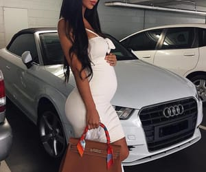 fashion, girl, and pregnant image