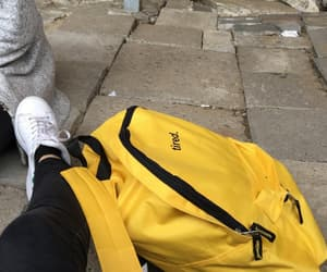 backpack, bag, and tired image