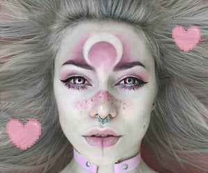 makeup, pink, and Halloween image