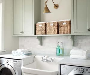 laundry room, laundry design ideas, and small laundry room image