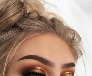 blonde, eyeshadow, and make up image