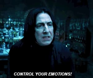 harry potter, snape, and emotions image