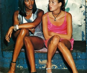 kate moss, model, and Naomi Campbell image