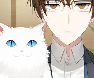 mystic messenger, jaehee, and cat image