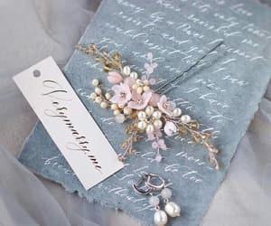 blue, elegant, and floral image