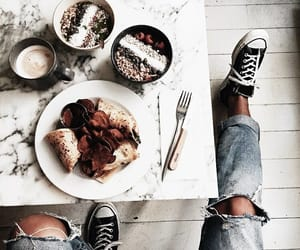 food, shoes, and breakfast image