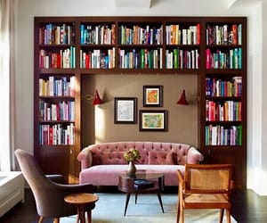 bookcases, home decor, and interior decorating image