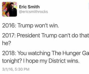 funny, trump, and hunger games image