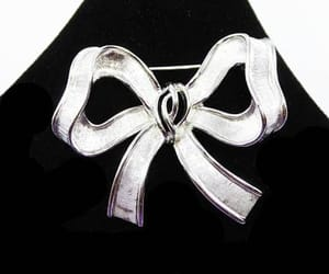 etsy, bow brooch, and 1960s 1970s jewelry image