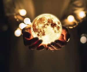 moon and lights image