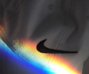 nike, rainbow, and tumblr image
